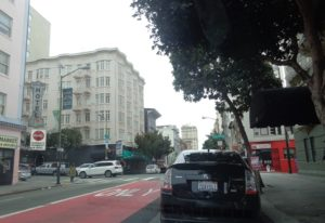 Nossa rua em São Francisco, a O'Farrel