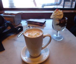 Sundae e chocolate quente na Ghirardelli Square