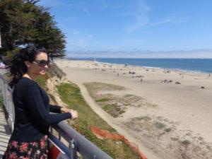Curtindo a praia de Santa Cruz