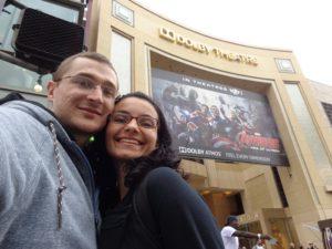 Calçada da fama: nós na frente do Dolby Theatre